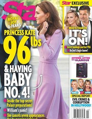 Księżna Kate na okładce magazynu 'Star'