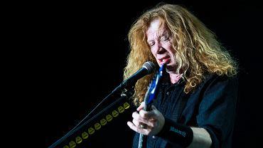 DAve Mustaine z Megadeth podczas koncertu na Power Festival w Łodzi