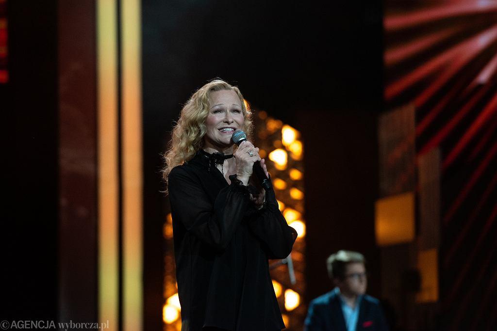 Edyta Geppert na festiwalu w Opolu w 2018 roku