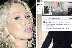 Magdalena Ogórek wyprzedaje szafę na Facebooku