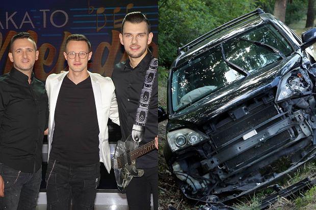 Członkowie zespołu Playboys mieli wypadek. Pijany kierowca wjechał w ich auto. Było groźnie.