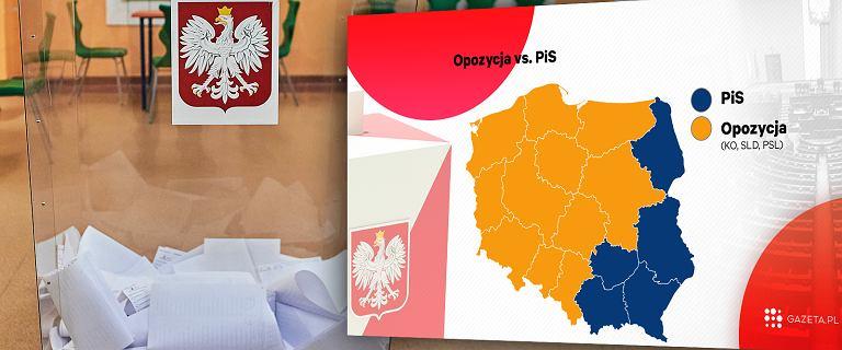 Wojna na wyborcze mapki. PiS chwali się niebieską Polską, a PO - pomarańczową