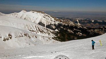 Kasprowy Wierch . Trasa narciarska w kotle Goryczkowym