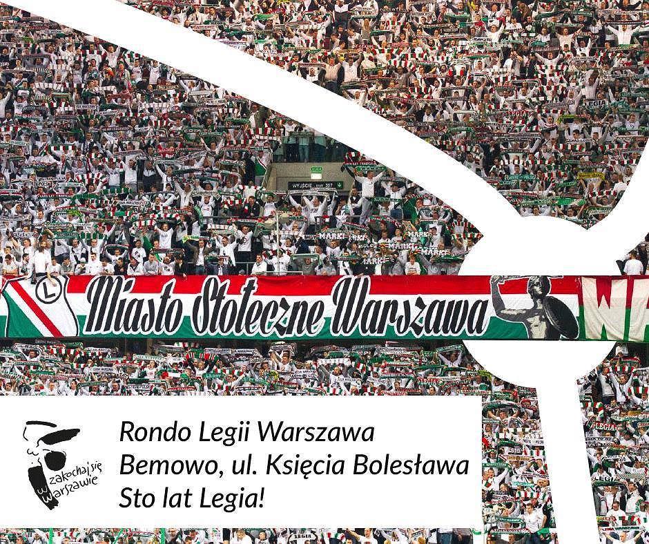 Rada Warszawy zdecydowała, że klub będzie patronem ronda na ul. Księcia Bolesława na Bemowie.