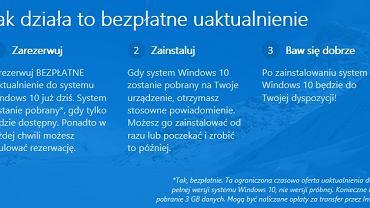 Windows 10 - kreator rezerwacji systemu