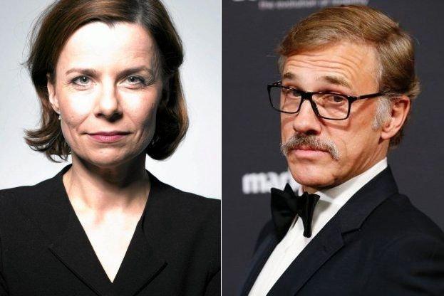Agata Kulesza i Christoph Waltz