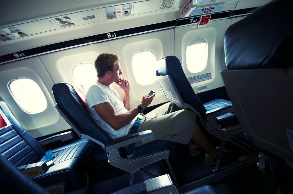 Telefon w samolocie