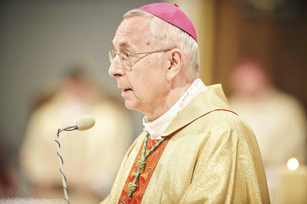 Abp. Stanisław Gądecki podczas ingresu arcybiskupa Rysia. Łódź, 4 listopada 2017