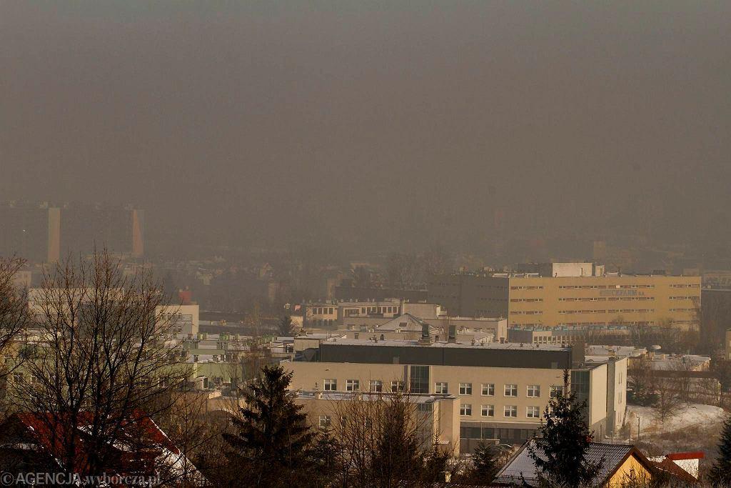 Kielce, smog nad miastem