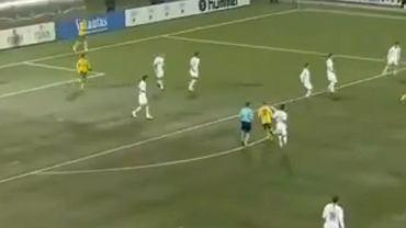 Arvydas Novikovas strzelił gola dla reprezentacji Litwy