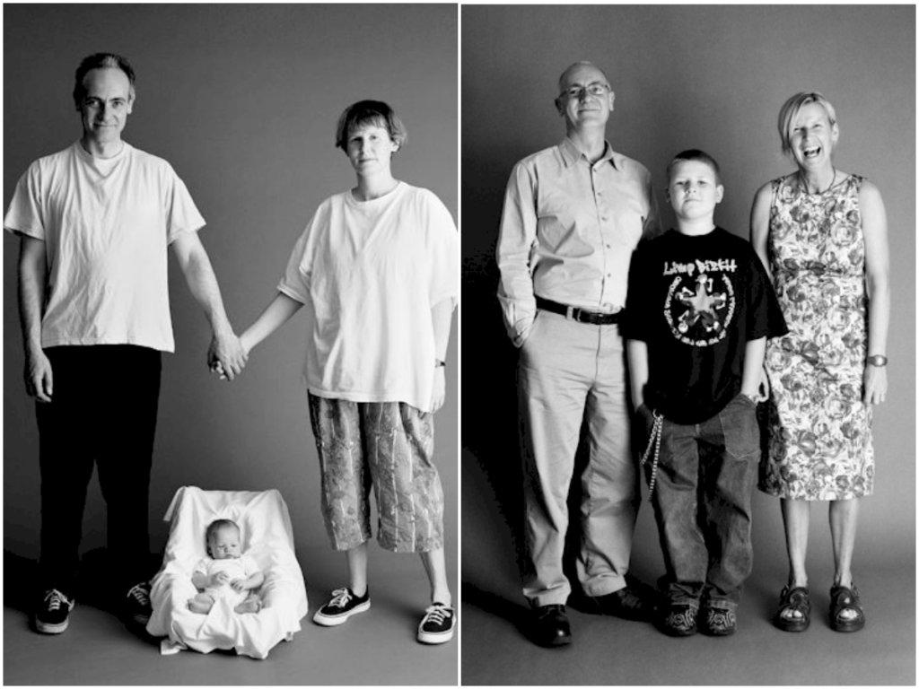 Susan, Frank i Ed Royle, fot. Zed Nelson, Projekt Family