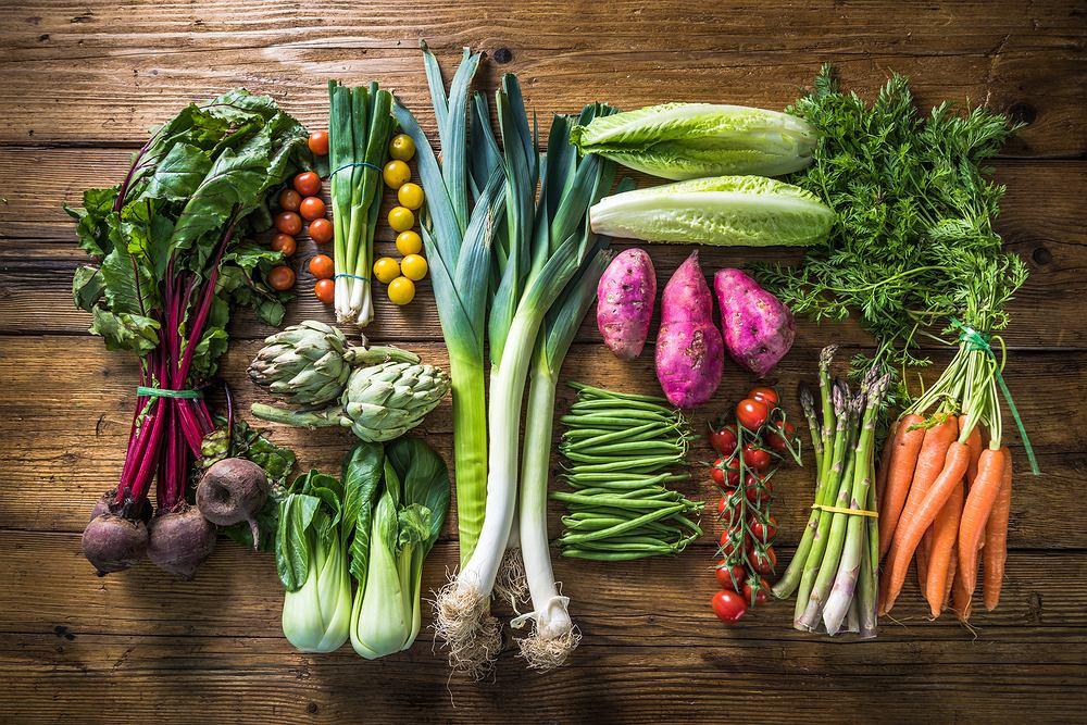 Dieta Gersona składa się, przede wszystkim, z dużych ilości świeżych warzyw i owoców.