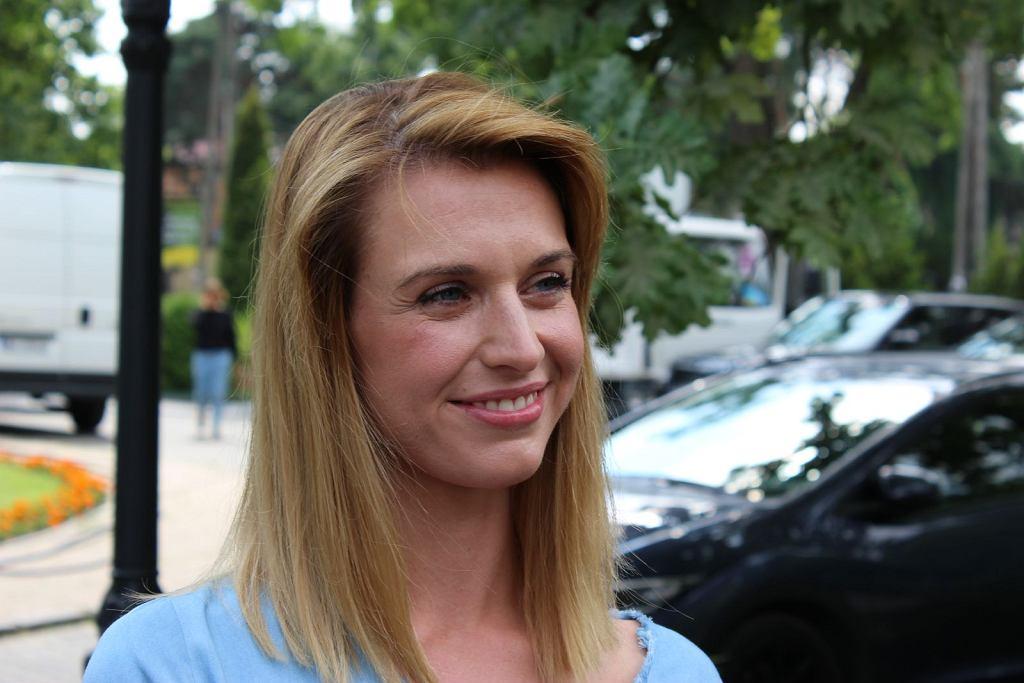 Julia Kamińska na planie filmu 'Narzeczony na niby'