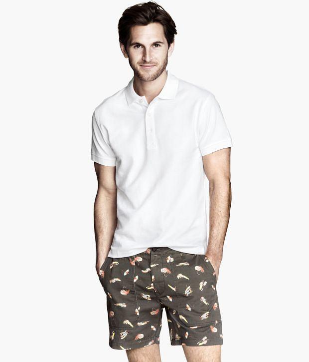 Spodenki z kolekcji H&M. Cena: 99,99 zł, moda męska, spodnie, h&m