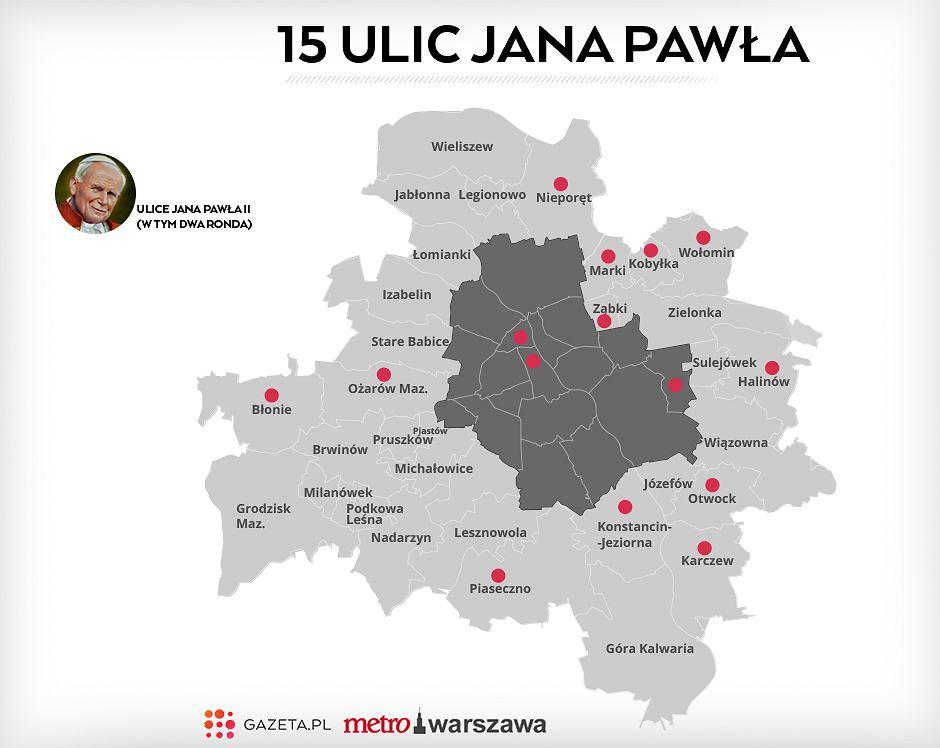 Ulice Warszawy po wejściu w życie ustawy PiS