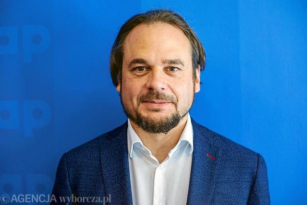 29.05.2018, Warszawa, konferencja na temat kondycji przewozów regionalnych #MyPasażerowie, na zdjęciu  Jakub Majewski (Fundacja Prokolej)