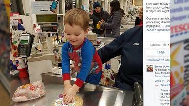 Chłopiec z autyzmem został kasjerem