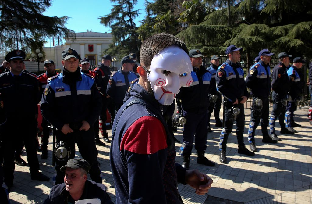 APTOPIX Albania Opposition Protest