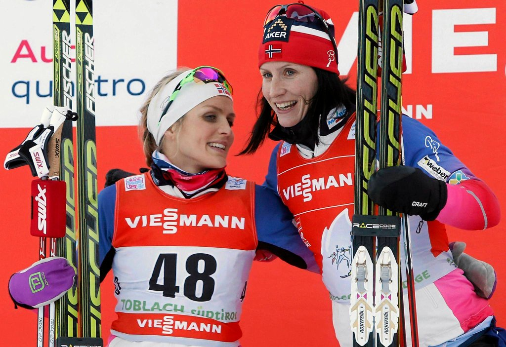 Therese Johaug i Marit Bjoergen