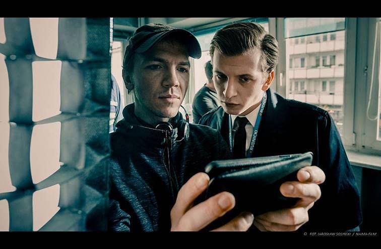 Jan Komasa na planie filmu 'Sala samobójców. Hejter'