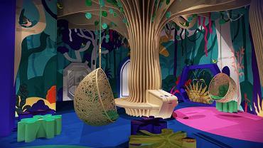 Bajka Pana Kleksa w Fabryce Porcelany - wizualizacja wystawy stałej