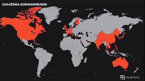 Zakażenia koronawirusem na świecie
