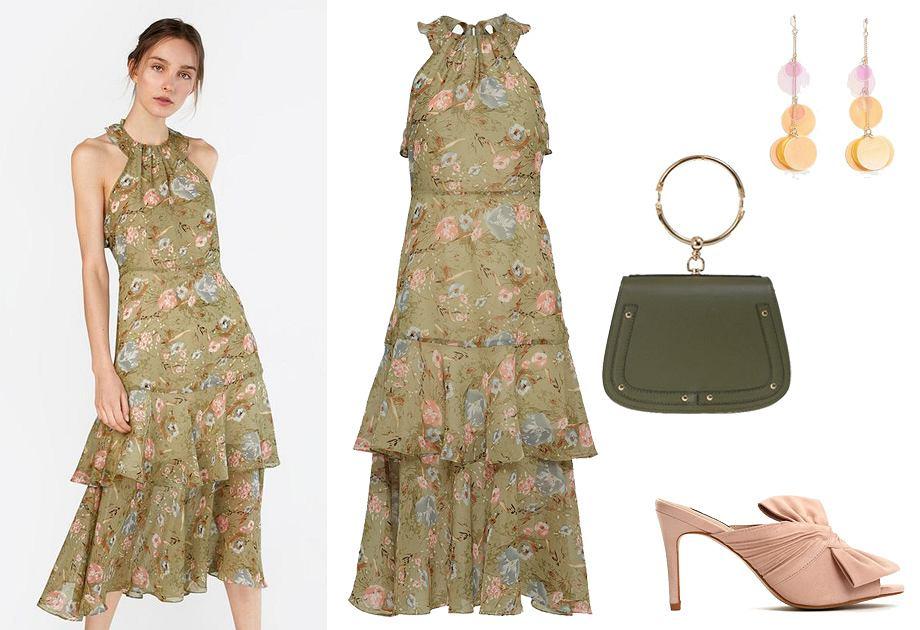 Sukienka z dekoltem amerykańskim - stylizacja