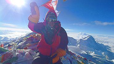 Monika Witkowska na szczycie Mount Everest