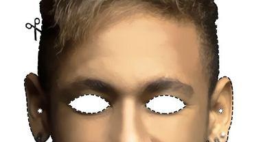 Maska z Neymarem