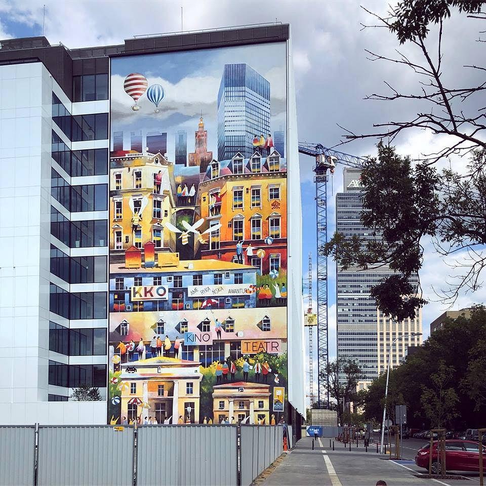 Mural Tytusa Brzozowskiego na Woli / materiały promocyjne