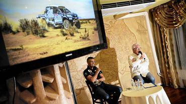 Sebastian Rozwadowski w czasie spotkania z kibicami po Rajdzie Dakar 2016