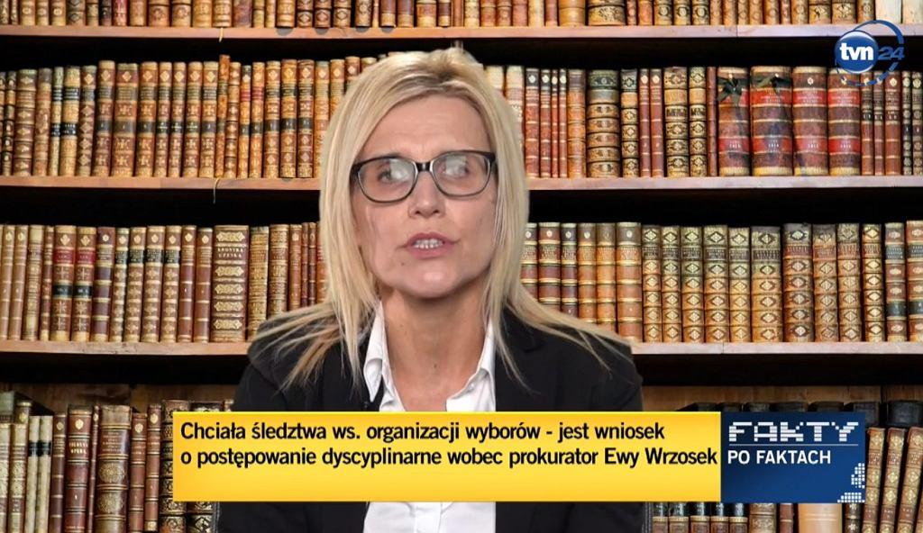 Ewa Wrzosek w TVN24