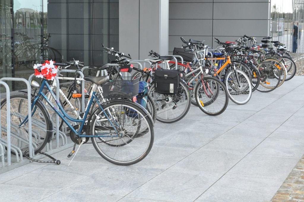Większość obecnych na debatę przyjechała rowerami