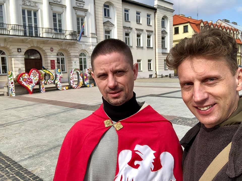 Paweł Lorenz i Michał Stańczak - przewodnicy Duces Mazovie z Płocka