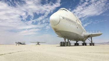 Ktoś 'zapomniał' samolotu po festiwalu Burning Man w Nevadzie