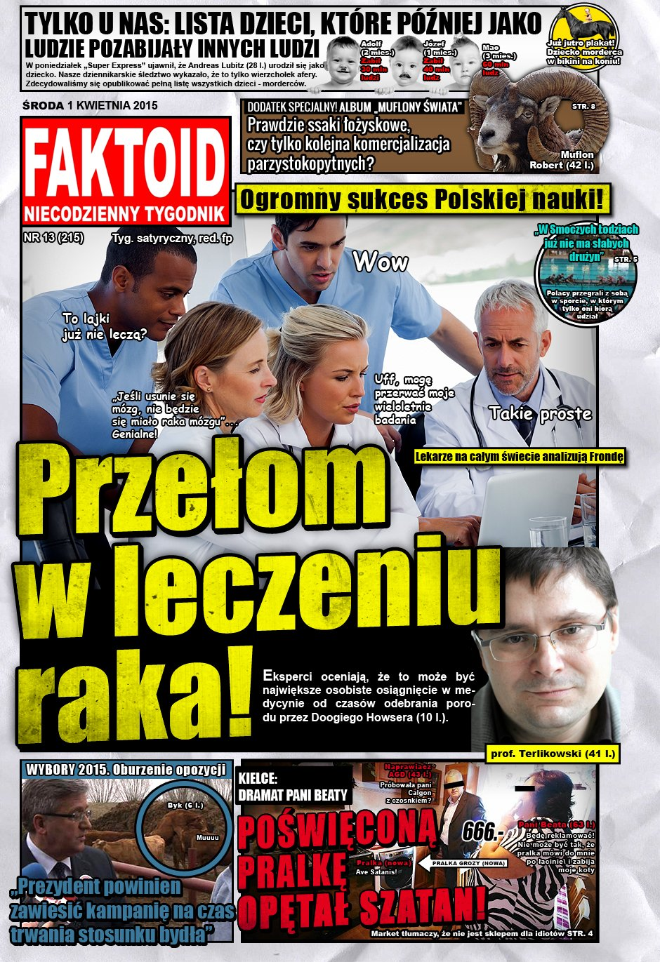 Faktoid: Przełom w leczeniu raka! - 1 kwietnia 2015, nr 13 (215), Faktoid