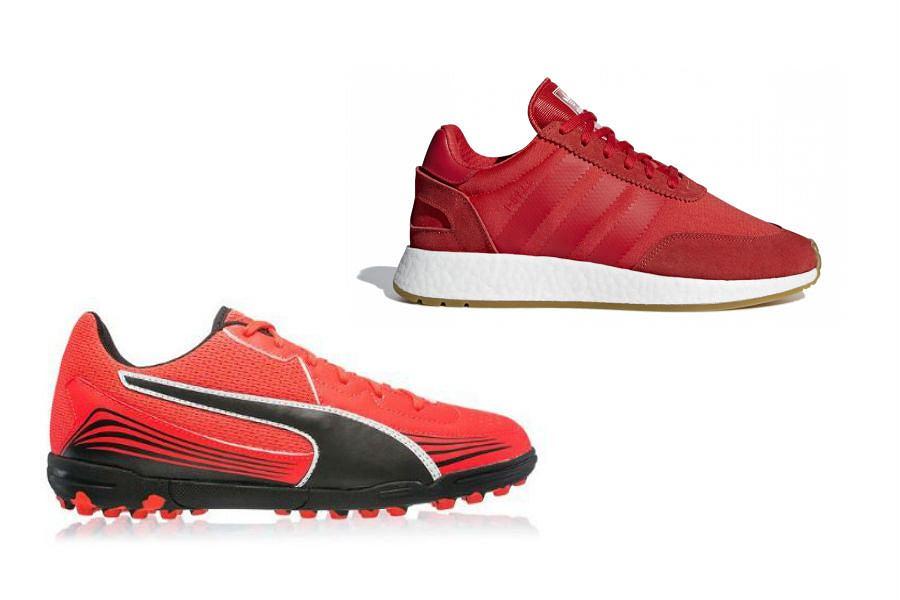 Czerwone buty sportowe męskie
