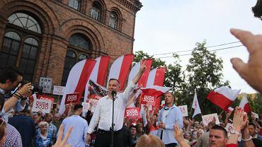 Wiec Andrzeja Dudy w Nowej Soli