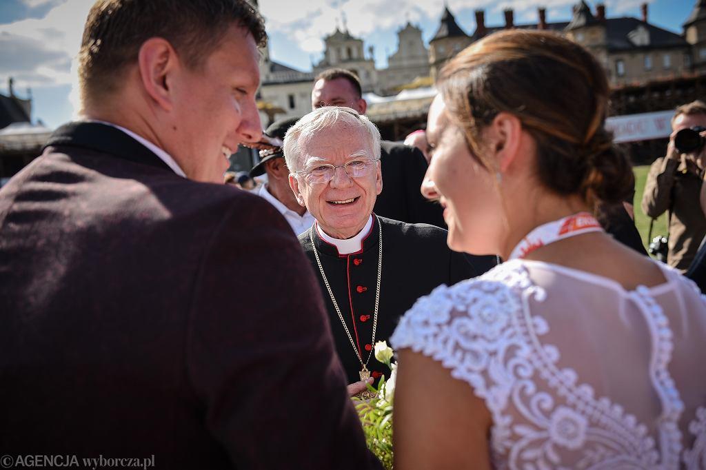 11.08.2019, Częstochowa, arcybiskup Marek Jędraszewski podczas wejścia Pieszej Pielgrzymki Krakowskiej na Jasną Górę.