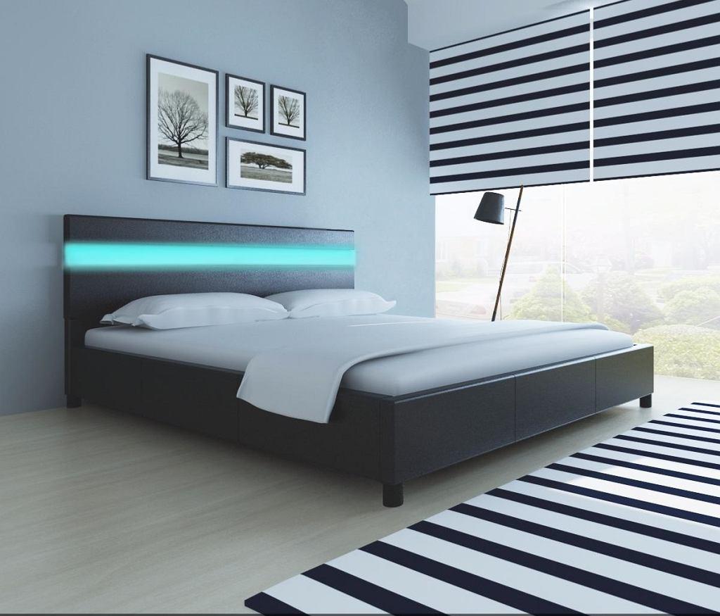 Łóżko z podświetleniem LED