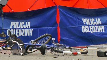 Kierowca śmiertelnie potrącił rowerzystę