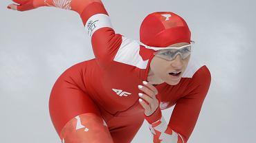 10.02.2018, Luiza Złotkowska podczas wyścigu na 3000m.
