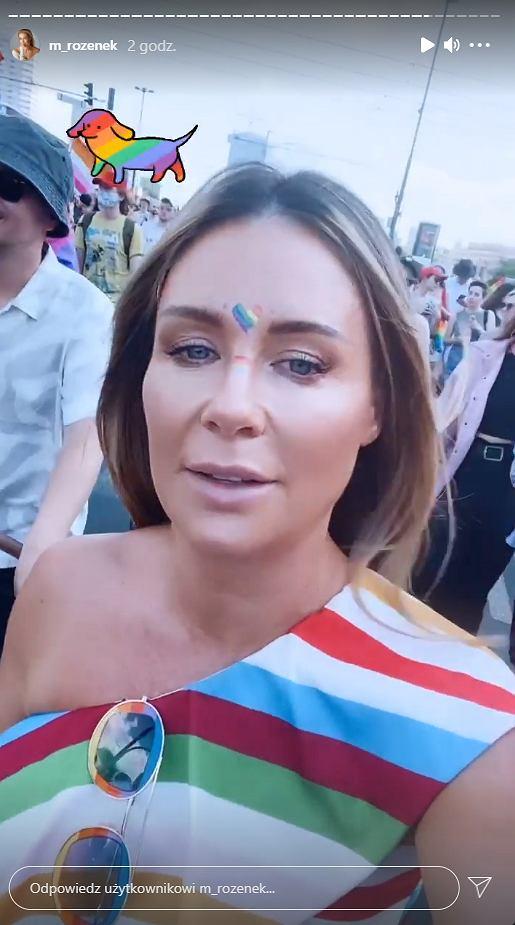 Małgorzata Rozenek na Paradzie Równości
