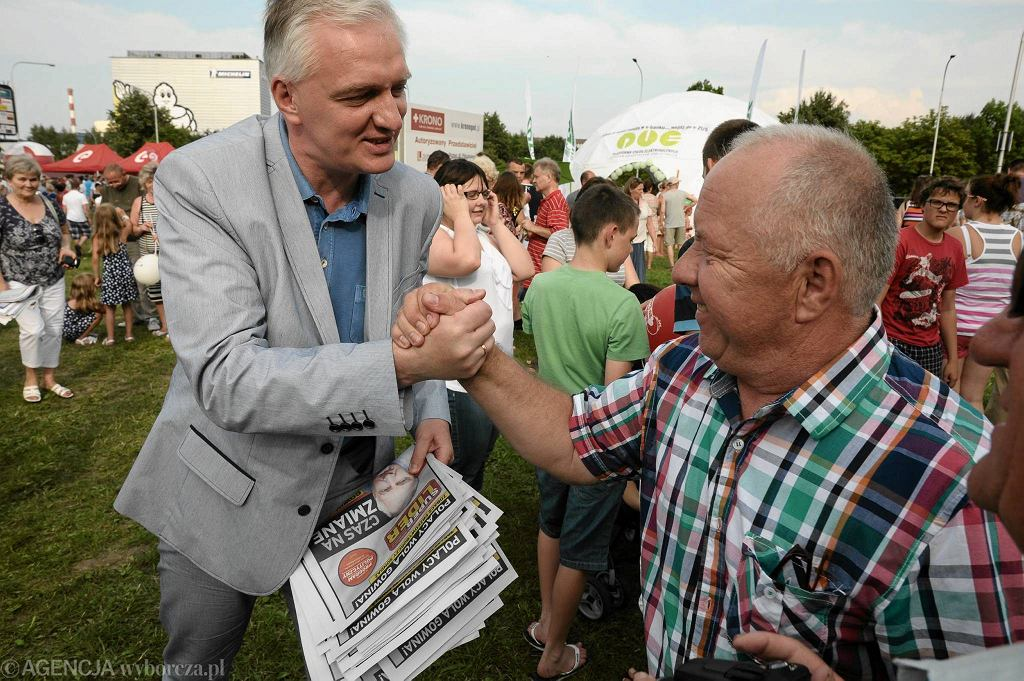 Jarosław Gowin rozmawiał z olsztynianami podczas festynu Lata z Radiem.