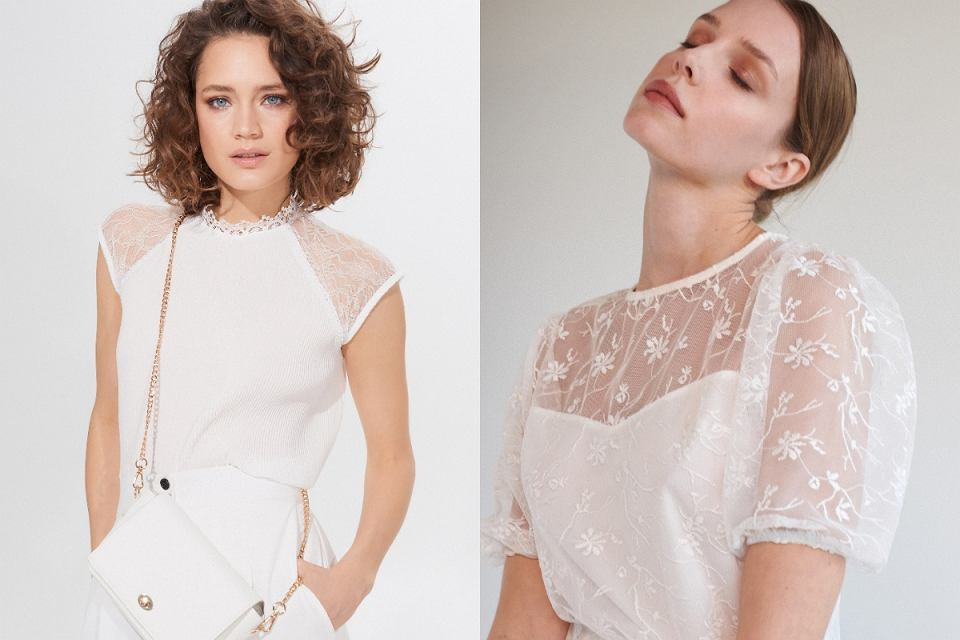 Białe bluzki dla dojrzałych kobiet