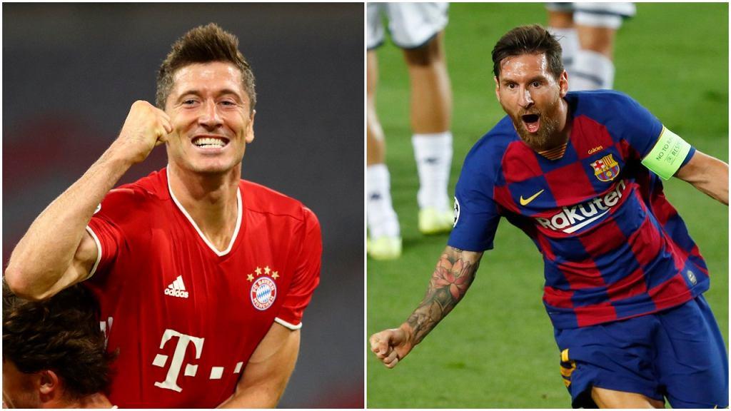 Robert Lewandowski i Lionel Messi