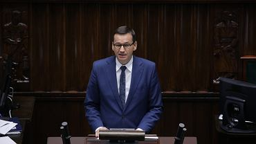 16. posiedzenie Sejmu Rzeczypospolitej Polskiej. Premier Mateusz Morawiecki