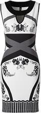 Sukienka biało-czarno-szarny