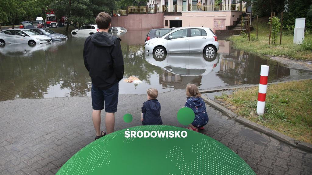 Skutki ulewy w Szczecinie