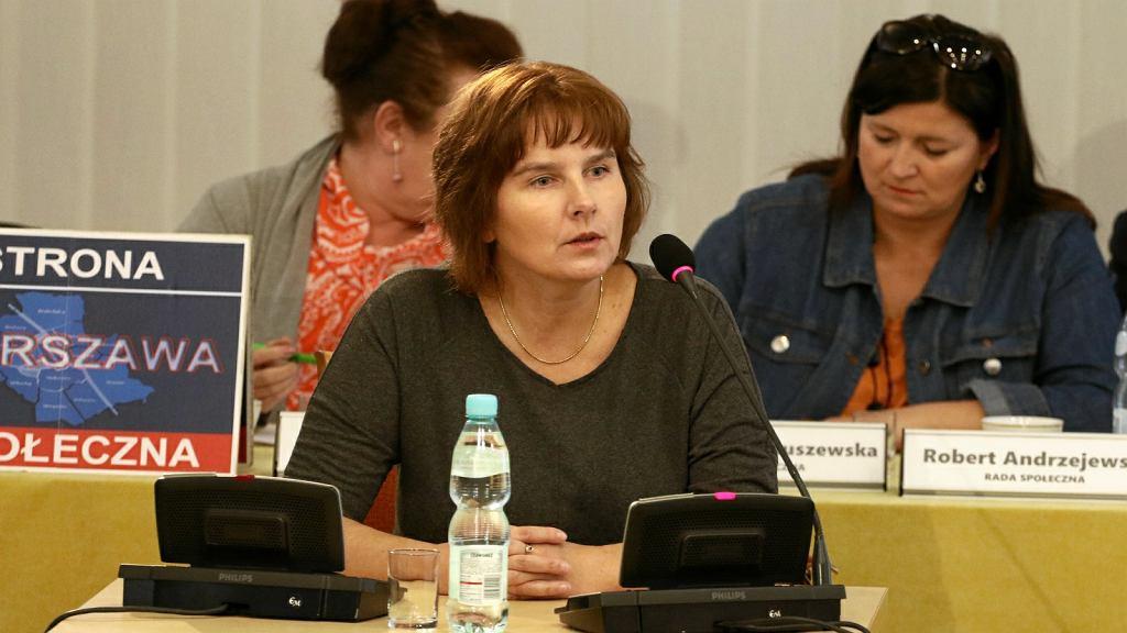 Magda Brzeska, córka Jolanty Brzeskiej, przed komisją reprywatyzacyjną